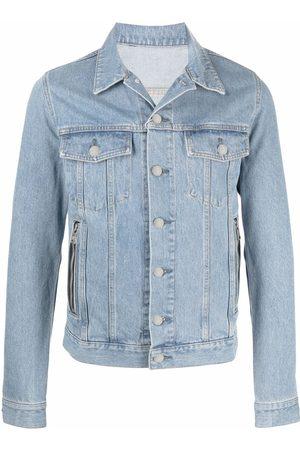 Balmain Veste en jean à design brodé