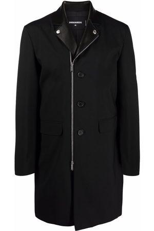 Dsquared2 Homme Manteaux longs - Manteau zippé à simple boutonnage