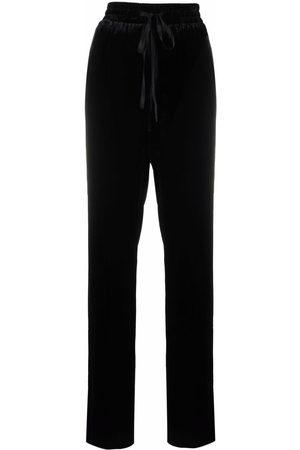 RED Valentino Velvet straight-leg track pants