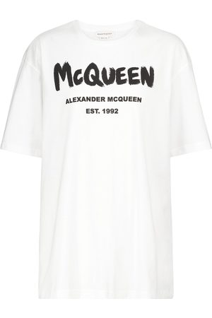 Alexander McQueen T-shirt à logo en coton