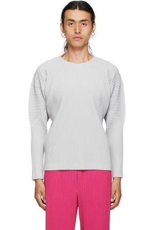 HOMME PLISSÉ ISSEY MIYAKE T-shirt à manches longues Basics gris
