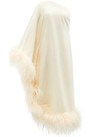 Taller Marmo Robe asymétrique à finitions en plumes Ubud