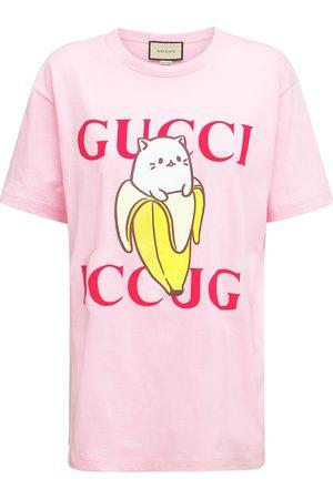 Gucci T-shirt En Jersey De Coton Imprimé
