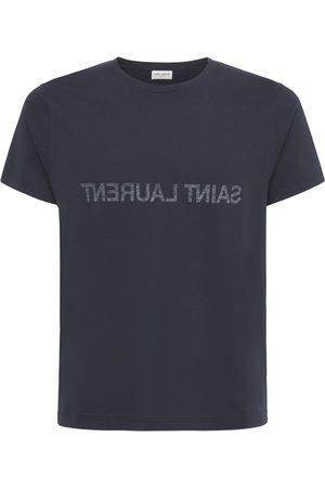 Saint Laurent T-shirt En Coton Imprimé