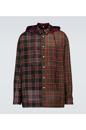 Loewe Chemise à capuche et carreaux