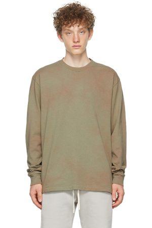 JOHN ELLIOTT T-shirt à manches longues University kaki à motif tie-dye