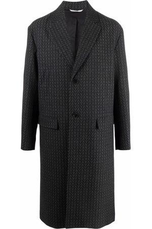 VALENTINO Optical V logo single-breasted coat