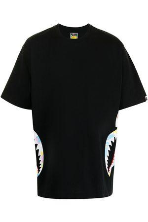 A Bathing Ape T-shirt New Multi Camo Side Shark