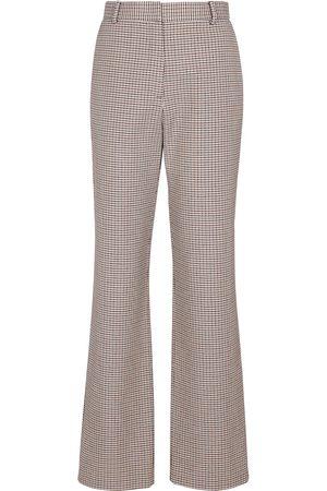 MAGDA BUTRYM Femme Pantalons coupe droite - Pantalon droit taille haute pied-de-poule