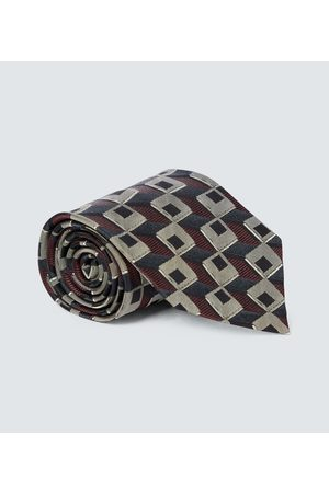 DRIES VAN NOTEN Cravate en soie à imprimée