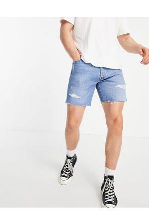 Levi's 501 93 - Short en jean coupe droite effet vieilli - délavé clair