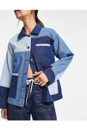 Whistles Veste chemise en jean effet patchwork