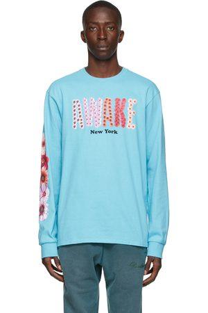 Awake NY Homme Manches longues - T-shirt à manches longues Bloom bleu à logo