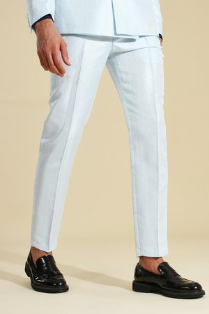 Boohoo Skinny Jacquard Suit Trouser Homme