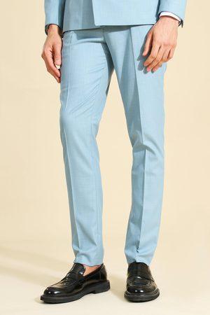 Boohoo Crosshatch Skinny Suit Trouser Homme