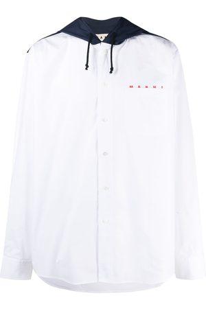 Marni Chemise à capuche à lien de resserrage