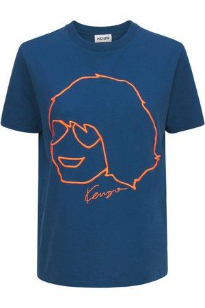 Kenzo T-shirt Loose En Coton Biologique Brodé