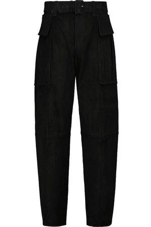 Stouls Pantalon slim Butch taille haute en daim