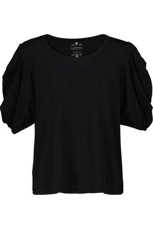 Velvet T-shirt Kiera en jersey de coton