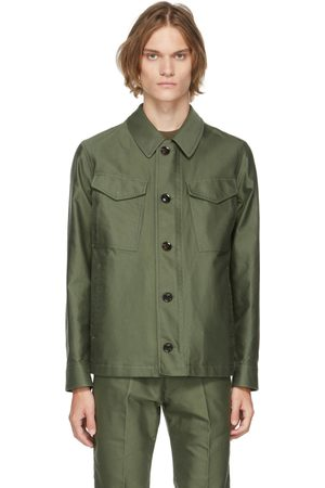 Tom Ford Blouson militaire Compact vert