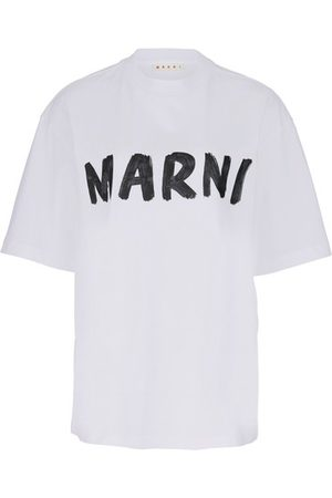 Marni T-shirt en coton avec lettrage façon graffiti