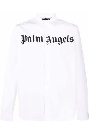 Palm Angels CLASSIC LOGO SHIRT WHITE BLACK