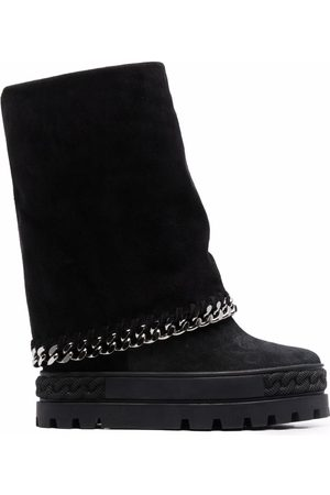 Casadei C-Chain suede boots