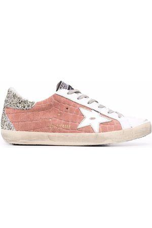 Golden Goose Crocodile-effect panelled sneakers