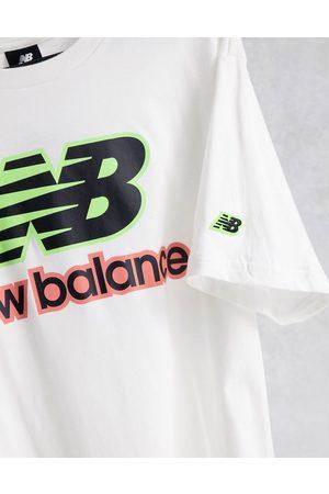 New Balance T-shirt à logo fluo