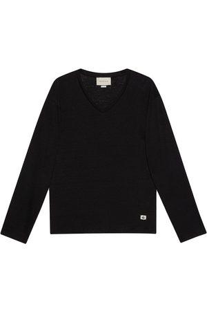 Gucci T-shirt en lin à col v