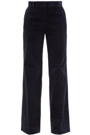 BELLA FREUD Femme Pantalons bootcut - Pantalon évasé en velours côtelé de coton Kim
