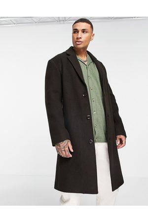 ASOS DESIGN Homme Manteaux longs - Manteau long coupe décontractée en laine mélangée