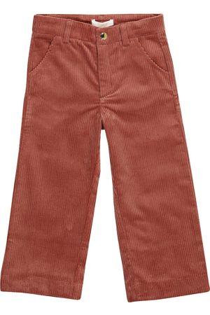 Chloé Pantalon droit en velours côtelé en coton extensible