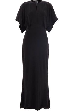 Norma Kamali Femme Robes longues - Robe longue en jersey à manches cape Obie