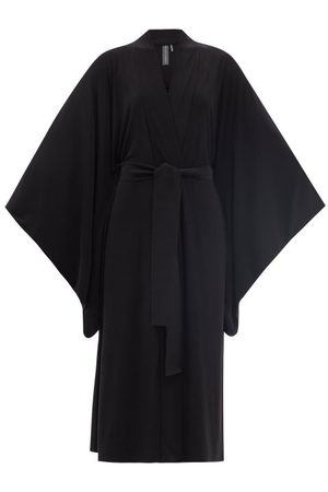 Norma Kamali Robe portefeuille en jersey à ceinture