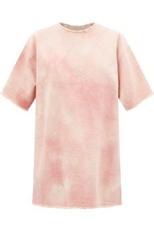 MARQUES'ALMEIDA Cravates - Robe T-shirt en denim tie-dye