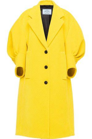 Prada Corduroy puff-sleeve coat