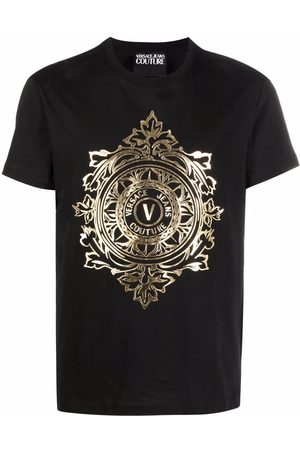 Versace Jeans Couture Gold Logo Print T-shirt