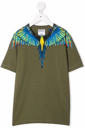 MARCELO BURLON BIRDS WINGS TEE S/S MILITARY BABY BLUE