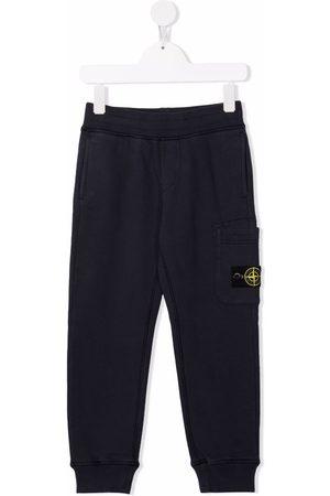 Stone Island Logo-patch cotton track pants
