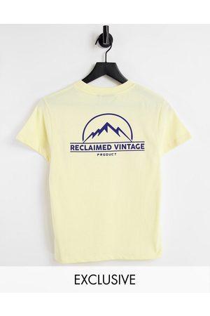 Reclaimed Inspired - T-shirt unisexe ajusté à logo paysage - Jaune