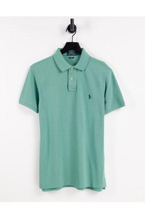 Polo Ralph Lauren Polo en piqué coupe slim avec logo joueur de polo - écume