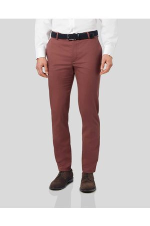 Charles Tyrwhitt Ultimate Non-Iron Cotton Chino Trousers - Size W34 L30 by