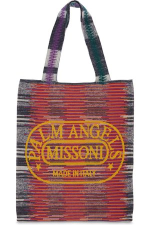 Palm Angels Femme Cabas - Tote Bag En Maille & Missoni