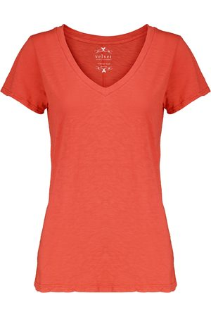 Velvet T-shirt Odelia en coton