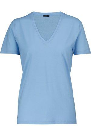 Joseph T-shirt col V en jersey de coton
