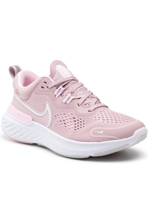 Nike Femme Baskets - Chaussures - React Miler 2 CW7136 500 Plum Chalk/White/Pink Foam