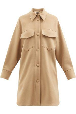 Stella McCartney Veste en laine à poches plaquées Kerry