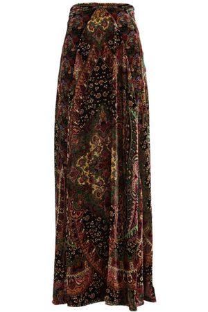 Etro Jupe longue en velours et jacquard floral Malibu