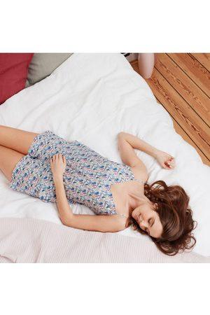 Blanc Cerise Short homewear en popeline de coton Imprimé zoo Liberty of London ©, JULIETTE